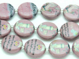 Friends Forever Pink Decoupage Beads 2mm (DC76)