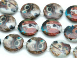 Dogs w/Monocles Decoupage Beads 20mm (DC82)