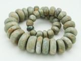Maya Jade Graduated Rondelle Beads 14-30mm (GJ420)