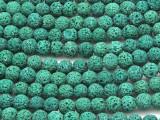 Green Lava Rock Round Beads 8mm (LAV108)