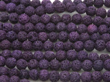 Purple Lava Rock Round Beads 8mm (LAV110)