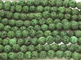 Olive Green Lava Rock Round Beads 8mm (LAV111)