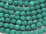 Green Lava Rock Round Beads 10mm (LAV113)