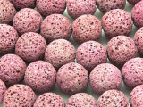 Pink Lava Rock Round Beads 18mm (LAV115)