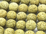 Yellow-Green Lava Rock Round Beads 18mm (LAV116)