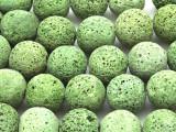 Leaf Green Lava Rock Round Beads 18mm (LAV117)