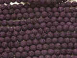 Purple Lava Rock Round Beads 6mm (LAV120)