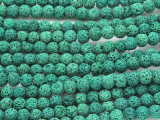 Green Lava Rock Round Beads 6mm (LAV121)