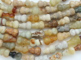 Flower Jade Vase Gemstone Beads 14mm (GS3596)