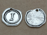 I - Pewter Wax Seal Stamp Charm 18mm (PW766)