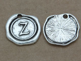 Z - Pewter Wax Seal Stamp Charm 18mm (PW783)