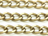 "Antique Brass Plated Aluminum Curb Chain 15mm - 36""  (CHAIN23)"