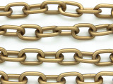 "Antique Brass Plated Aluminum Oval Link Chain 13mm - 36""  (CHAIN26)"