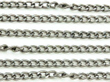 "Gunmetal Plated Aluminum Cable Chain 5mm - 36""  (CHAIN28)"