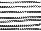 "Black Plated Aluminum Cable Chain 3mm - 36""  (CHAIN36)"