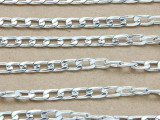 "Silver Plated Aluminum Flat Curb Chain 7mm - 36""  (CHAIN45)"