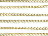 "Brass Plated Iron Curb Chain 4mm - 36""  (CHAIN68)"