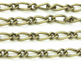 "Antique Brass Plated Iron Mother & Son Chain 12mm - 36""  (CHAIN72)"