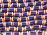 Purple Barrel Bamboo Wood Beads 10mm (WD882)