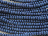 Blue Rondelle Wood Beads 4mm (WD884)
