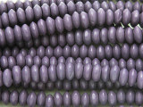Purple Saucer Wood Beads 7-8mm (WD903)