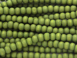 Olive Green Irregular Round Wood Beads 5mm (WD906)