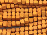 Light Orange Cube Wood Beads 6mm (WD907)