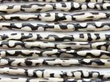 Batik Tube Bone Beads w/Jigsaw 28-30mm - Kenya (BA7011)