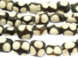 Batik Bone Beads w/Polka Dots 12mm - Kenya (BA7003)