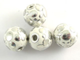 White Ceramic & Metal Bead 17mm (CM70)
