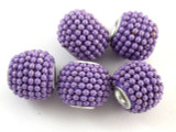 Purple Ceramic & Metal Bead 13mm (CM81)