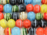 Assorted Lampwork Glass Beads 13mm (LW1415)
