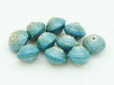 Turquoise Recycled Paper Beads 9mm (PA42)