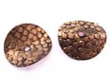 Copper Bent Disc Bead 17mm (CP72)