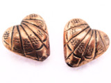 Copper Heart Bead 15mm (CP80)