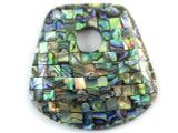 Bell-Shaped Abalone Shell Pendant 58-60mm (AP634)