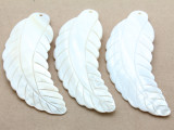Mother of Pearl Feather Shell Pendant 102mm (AP639)