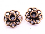 Copper Flower Spacer Bead 15mm (CP103)