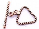 Copper Triangle Rope Toggle 26mm (CP117)