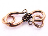 Copper S-Hook w/2 Jump Rings 25mm (CP123)