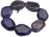 Purple Agate Slab Gemstone Beads