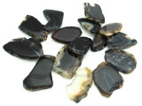 Black Agate Slab Gemstone Beads