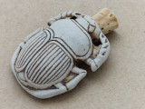 Beetle Scarab Ceramic Cork Bottle Pendant 40mm (AP1805)