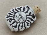 Sun Ceramic Cork Bottle Pendant 33mm (AP1807)