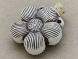 Flower Ceramic Cork Bottle Pendant 37mm (AP1809)