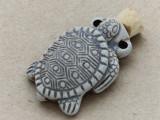 Turtle Ceramic Cork Bottle Pendant 38mm (AP1811)