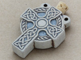 Celtic Cross Ceramic Cork Bottle Pendant 50mm (AP1820)