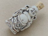 Buddha Ceramic Cork Bottle Pendant 40mm (AP1821)