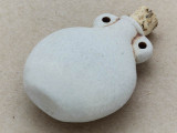 Plain Vase Ceramic Cork Bottle Pendant 44mm (AP1837)