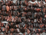 "Red Tiger Eye Chip Gemstone Beads - 34"" strand (GS3641)"